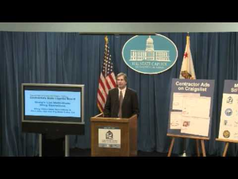 CSLB Consumer Alert News Conference June 20 2012