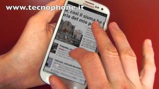 Samsung Galaxy S III : Recensione dopo un giorno di utilizzo by Tecnophone.it