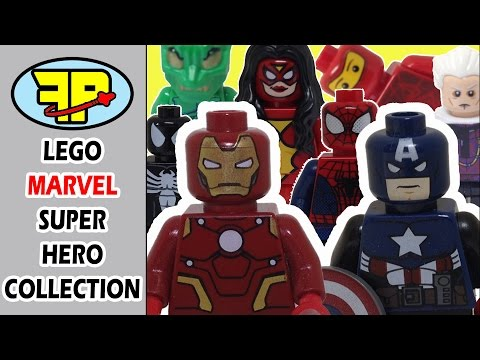 Tour FrictionPin's complete Lego MARVEL Super Heroes minifigure collection