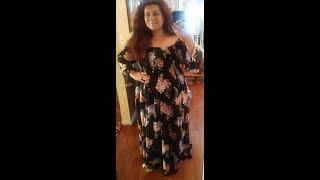 Plus Size OOTD Torrid Maxi Dress and 1 Year Jewelry Challenge Day 8