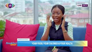 Food, calories and health on Breakfast Daily