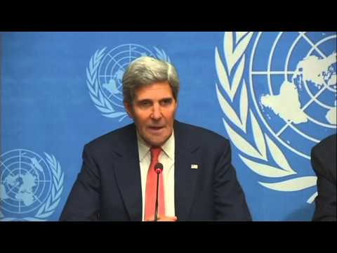 Syria crisis talks  John Kerry calls Sergei Lavrov Geneva talks 'constructive'