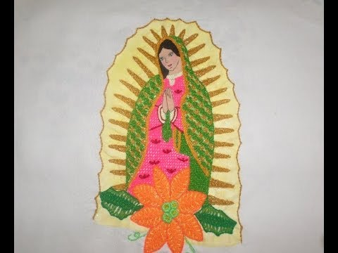 Bordado Fantasia Virgen Terminada