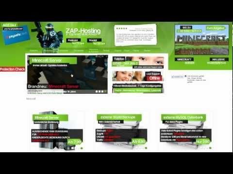 Zap-Hosting.com - Dein eigener Minecraftserver / Minecraftserver erstellen