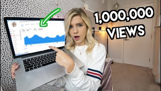 This Is How Much YouTube Paid Me For My 1,000,000 Viewed Video (not clickbait)