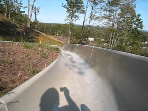 Crystal Mountain Alpine Slide Mountain Roller Coaster POV Thompsonville Michigan