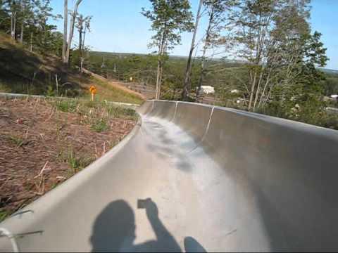 Crystal Mountain Alpine Slide Mountain Roller Coaster POV Thompsonville Michigan