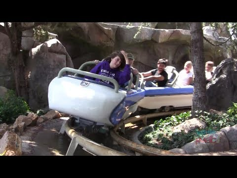 Full ride: New Matterhorn Bobsleds, both sides, and mountain climbers at Disneyland POV