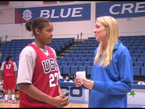 USA Basketball at American - Maya Moore with AU's Liz Leer Video