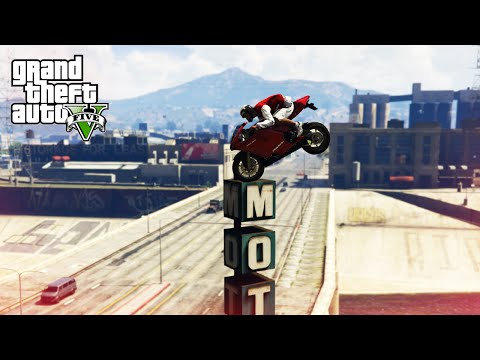 CRAZIEST BIKE STUNTS! - (GTA 5 Top 10 Stunts)