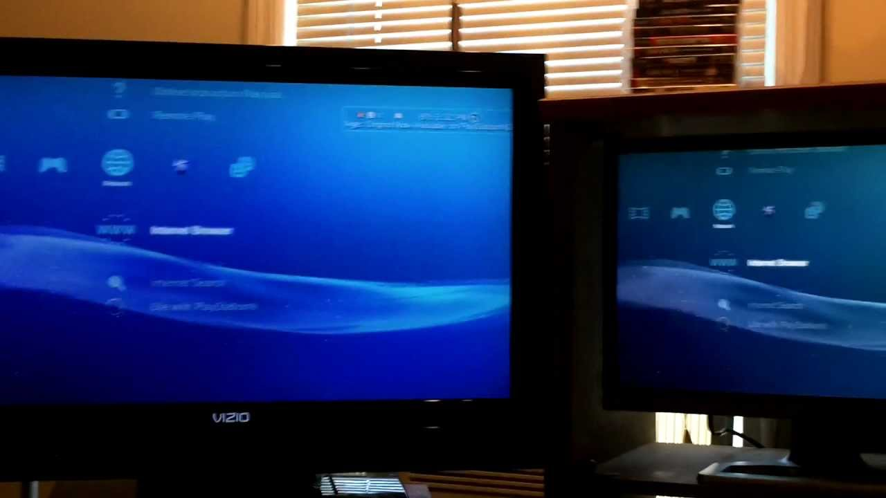 How To Use Ps3 On 2 Screens At Once Youtube