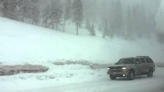 Driving through snow