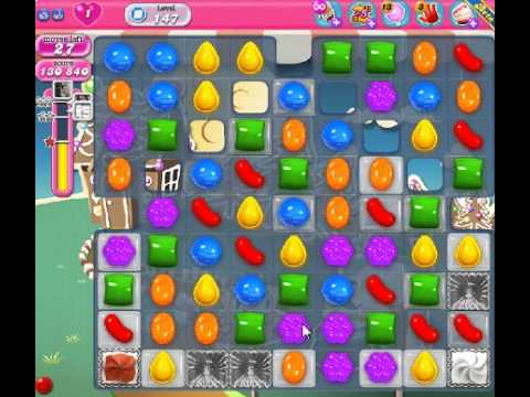 How to beat Candy Crush Saga Level 147 - 2 Stars - No Boosters - 223