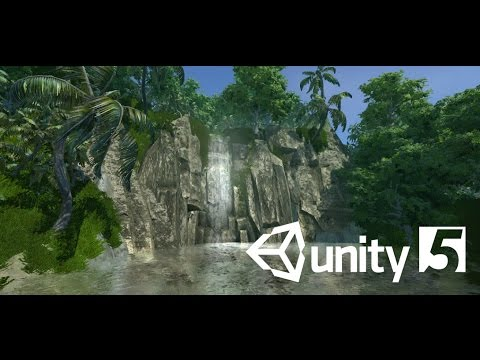 Unity Speed Design: Tropical Island Waterfall
