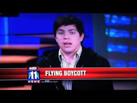 We Won't Fly! Act now. Travel with dignity. PeaceNik on FOX 11 news (11-15-10)