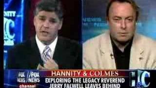 Christopher Hitchens on Hannity & Colmes about Rev. Falwell's Death