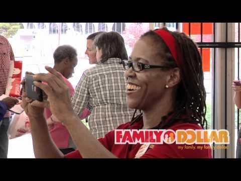 Coca-Cola Polar Bear Visits Family Dollar Store in Atlanta, GA