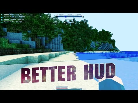 Minecraft Mod - BETTER HUD! New Hud Elements to Minecraft 1.7.10 Forge - 2015 Mods