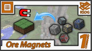 Ore Magnets in Vanilla Minecraft! | One-Command for 1.9 Multiplayer