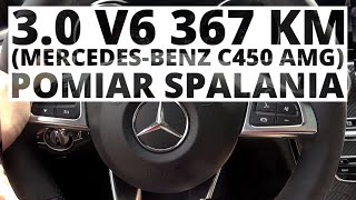 Mercedes-Benz Klasa C 450 AMG 3.0 V6 367 KM (AT) - pomiar zużycia paliwa