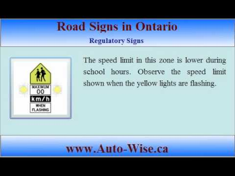 Road Signs For Driving Test Ontario Driving Test g1 Road