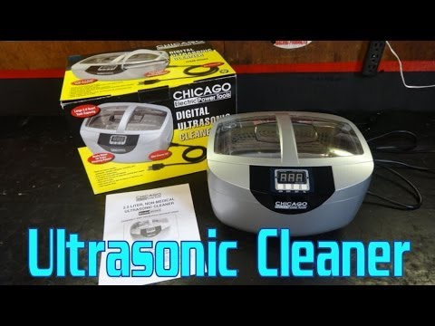 Harbor Freight Chicago Electric Ultrasonic Cleaner Foil Test