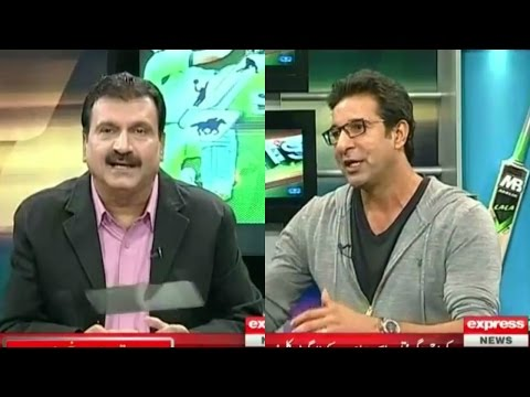 Sports Page with Mirza Iqbal Baig and Wasim Akram