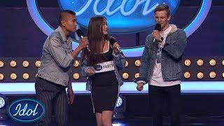 Daniel, Martine og Carlisle nailer Bruno Mars - Treasure i trio | Idol Norge 2018