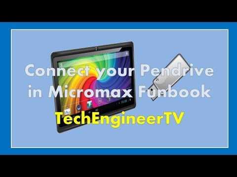 Connect Pendrive on Micromax Funbook