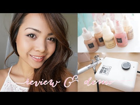 Belletto Studio Airbrush Makeup Review & Demo   Charmaine Manansala