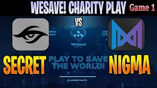 [ENG] Secret vs Nigma Game 1 | Bo3 | EU WeSave! Charity Play | DOTA 2 LIVE CAST by @D2Bowie