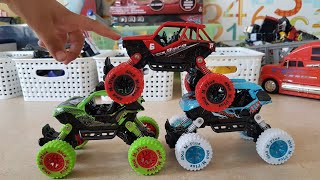 Video for Kids: Unboxing Toy Cars Monster Trucks with Dlan Video