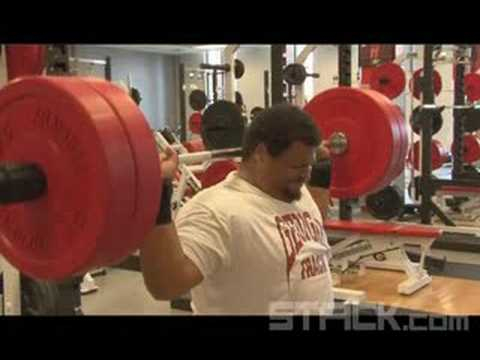 2008 Olympic Shot Put Reese Hoffa: The Seated Shoulder Press Video