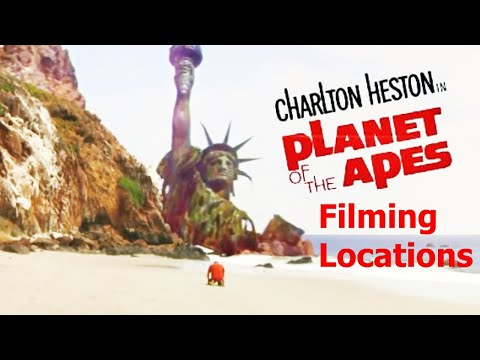 Planet of the Apes 1968 ( FILMING LOCATION VIDEO) Charlton Heston Ending