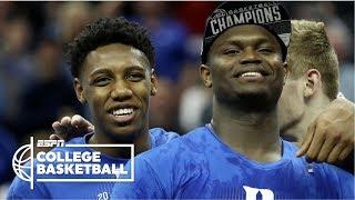Zion Williamson, RJ Barrett lead Duke to ACC championship over FSU | College Basketball Highlights