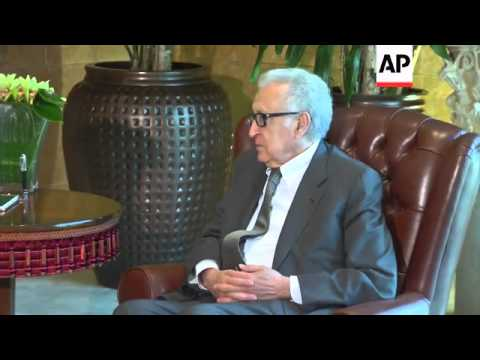 Brahimi arrives for talks with Lebanese officials on peace conference on Syria