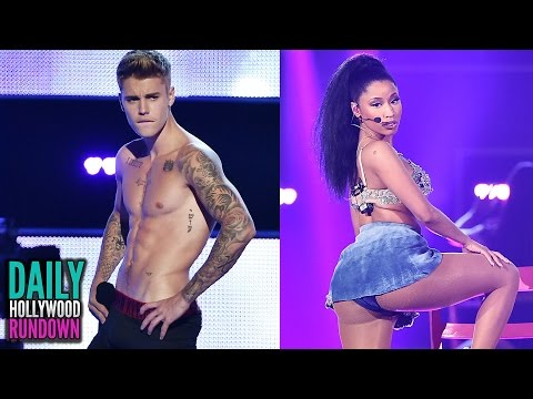 "Justin Bieber BOOED During Striptease - Nicki Minaj Racy ""Anaconda"" Fashion Rocks Performance (DHR)"