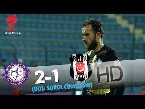Osmanlıspor: 2 - Beşiktaş: 1 | Gol: Sokol Çikalleshi
