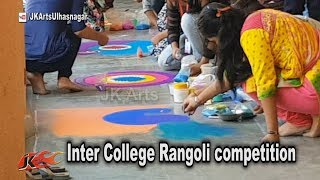 Inter College Rangoli competition, Event held at CHM College | JK Arts 1342