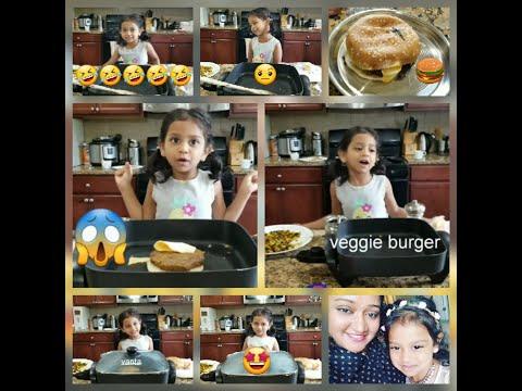 Telugu lo veggie burger vanta:)