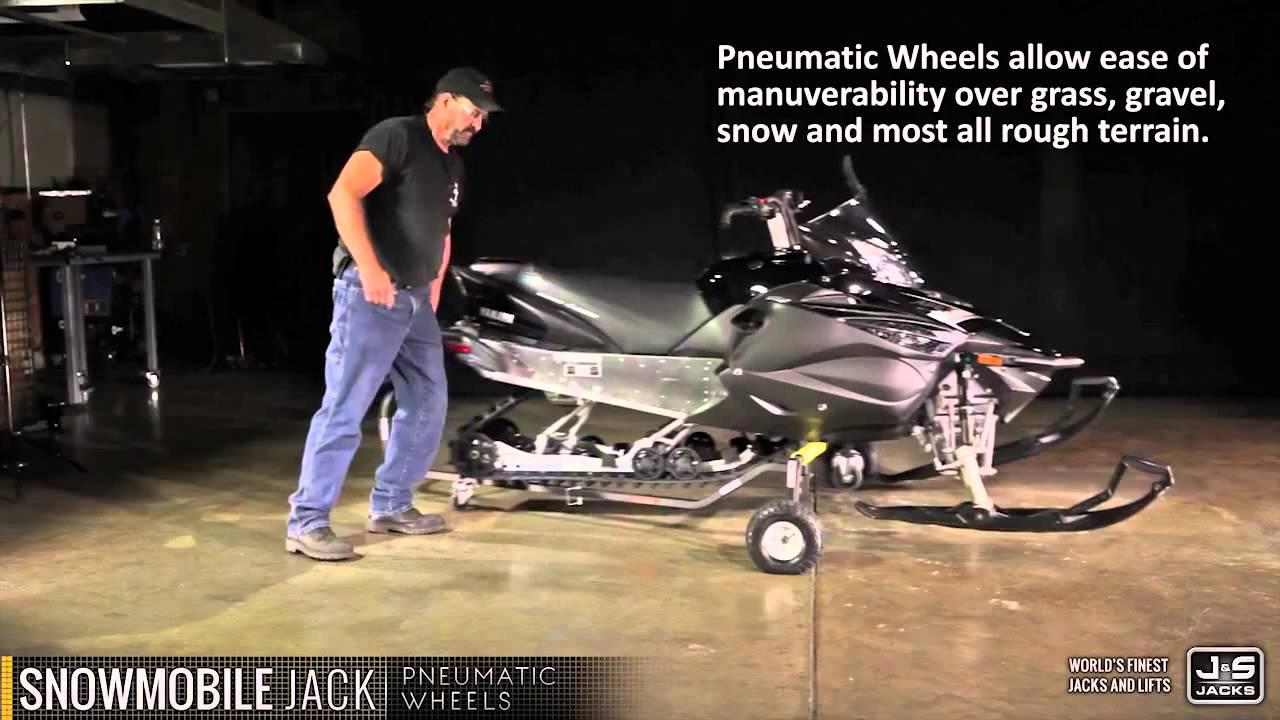 J Amp S Jacks Snowmobile Cart Youtube