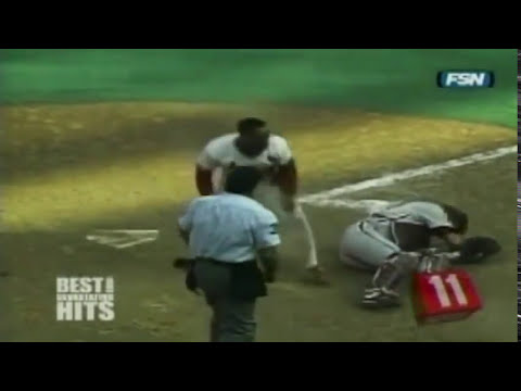 Choques de beisbol de grandes ligas (IMPACTANTES)