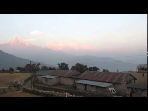 20151230 Sunset at Australian Camp. Nepal