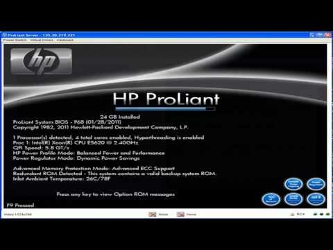 Setting up the iLO3 Interface on the HP DL360 G7 Server