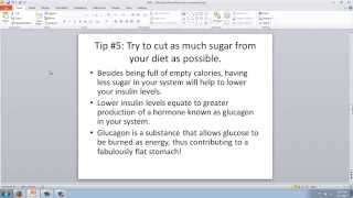 Tips for getting a flat stomach for summer part 1