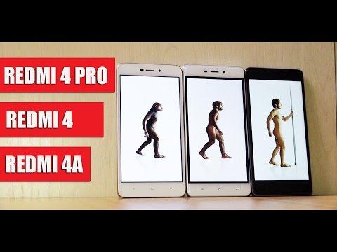 ВСЯ СЕРИЯ Xiaomi Redmi 4: Redmi 4A, Redmi 4 и Redmi 4 PRO (итоговый обзор-сравнение)