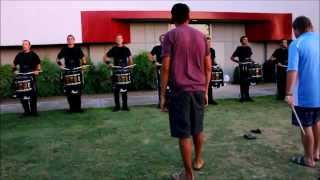 """Blue Devils 2014 Drumline Full Show """"Felliniesque"""" In the Lot"""