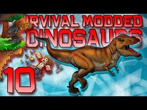 Minecraft: Modded Dinosaur Survival Let's Play w/Mitch! Ep. 10 - T-REX