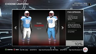 Madden 15 Owner Mode Next Gen Gameplay - Relocating Team - New Uniforms, Names, Logos Etc.
