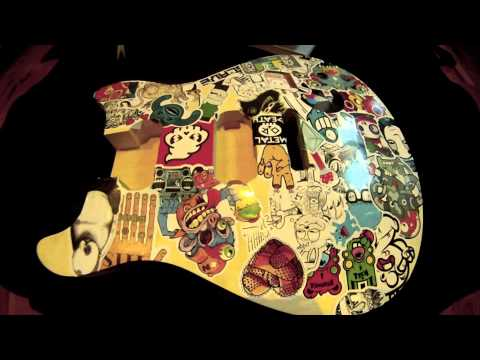 Electric Guitar Stickers Guitar Sticker Bomb Time Lapse